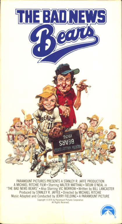76 04 07 The Bad News Bears (1976)  Comedy | Family | Sport  PG ,  An aging, down-on-his-luck ex-minor leaguer coaches a team of misfits in an ultra-competitive California little league.