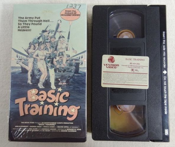 Basic Training (1985) Comedy , Sex - R : this comedy is about a sexy worker who shuns the quick-handed advances of her Pentagon boss and gets fired. To pay him back for her unjust dismissal, she and two other gals manipulate their way back into Pentagon jobs and go about setting up a bunch of top-level male lechers for early unscheduled retirements. This is a lady-payback type film with plenty of dirty talk.