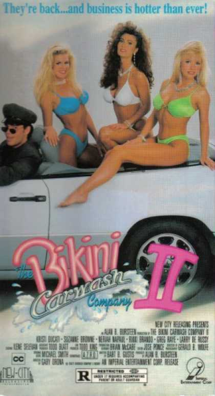 The Bikini Carwash Company II (1993) Comedy - R : The girls from _Bikini Carwash Company, The (1992)_ are back. Their business has been a success, and a purchase contract has been signed with an international megabusiness. But the company CEO is not playing straight - he wants only the land the carwash locations are sited on - to tear them down and build condos. The girls have only a week to raise $4 million to buy their company back. Lingerie sales over a TV channel is the method of choice, and since the product is demonstrated by the carwash principals, the flesh quotient remains as high as expected.