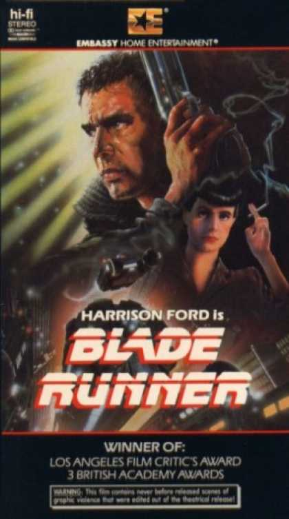 Blade Runner (1982) Sci-Fi , Thriller - R : A blade runner must pursue and try to terminate four replicants who stole a ship in space and have returned to Earth to find their creator.