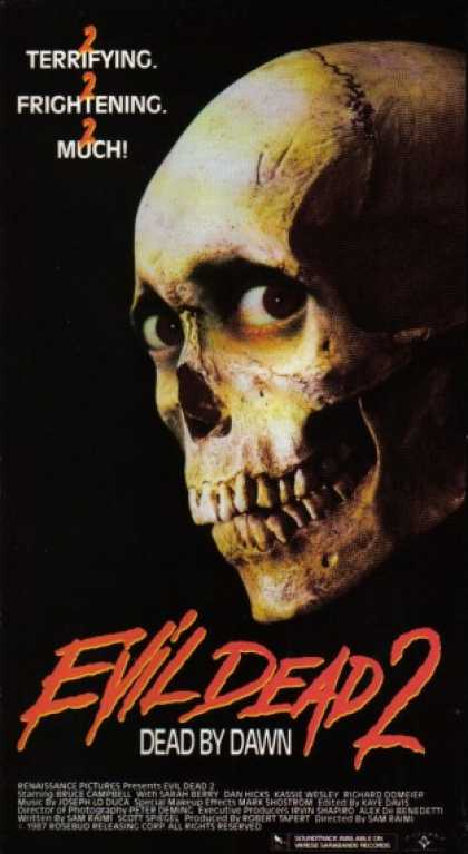 Evil Dead II (1987) Comedy , Horror - R : The lone survivor of an onslaught of flesh-possessing spirits holds up in a cabin with a group of strangers while the demons continue their attack.