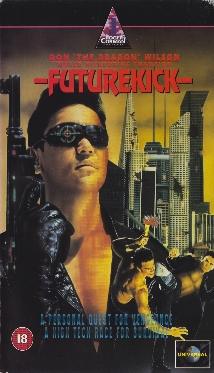 Future Kick (1991) Action, Sci-Fi - R : This sci-fi actioner is set in a future that is ruled by technology and gigantic corporations. It centers on a woman's attempts to solve the puzzling murder of her husband, a prominent engineer who has found out far too much about a company that has been dealing in valuable human body parts. To assist her search, the wife hires kick-boxing