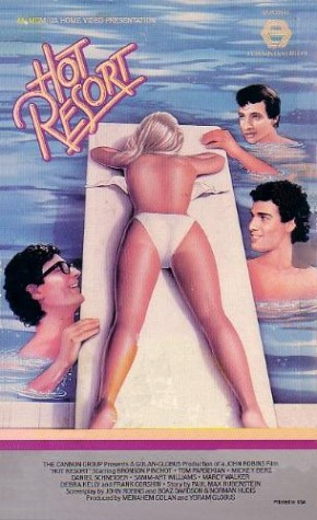 85 01 00 Hot Resort (1985) Comedy - R , Young guys on the make get a job at a resort hotel in the Caribbean.