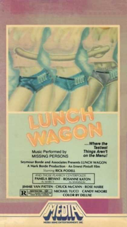 Lunch Wagon (1981) Comedy - R : Three women start a lunch wagon business but run into stiff resistance from their competitor Mr. Schmeckler: their presence is interfering with some sort of illegal activity he's involved in. While Schmeckler busies himself trying to sabotage their wagon, the women are busy falling in love with construction guys and rock musicians. Two bumbling diamond thieves create complications for both sides.