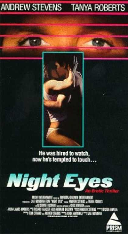 Night Eyes (1990) Thriller - R : A security guard is hired to gather evidence of adultery against the wife of the rock star and ends up getting involved with her.