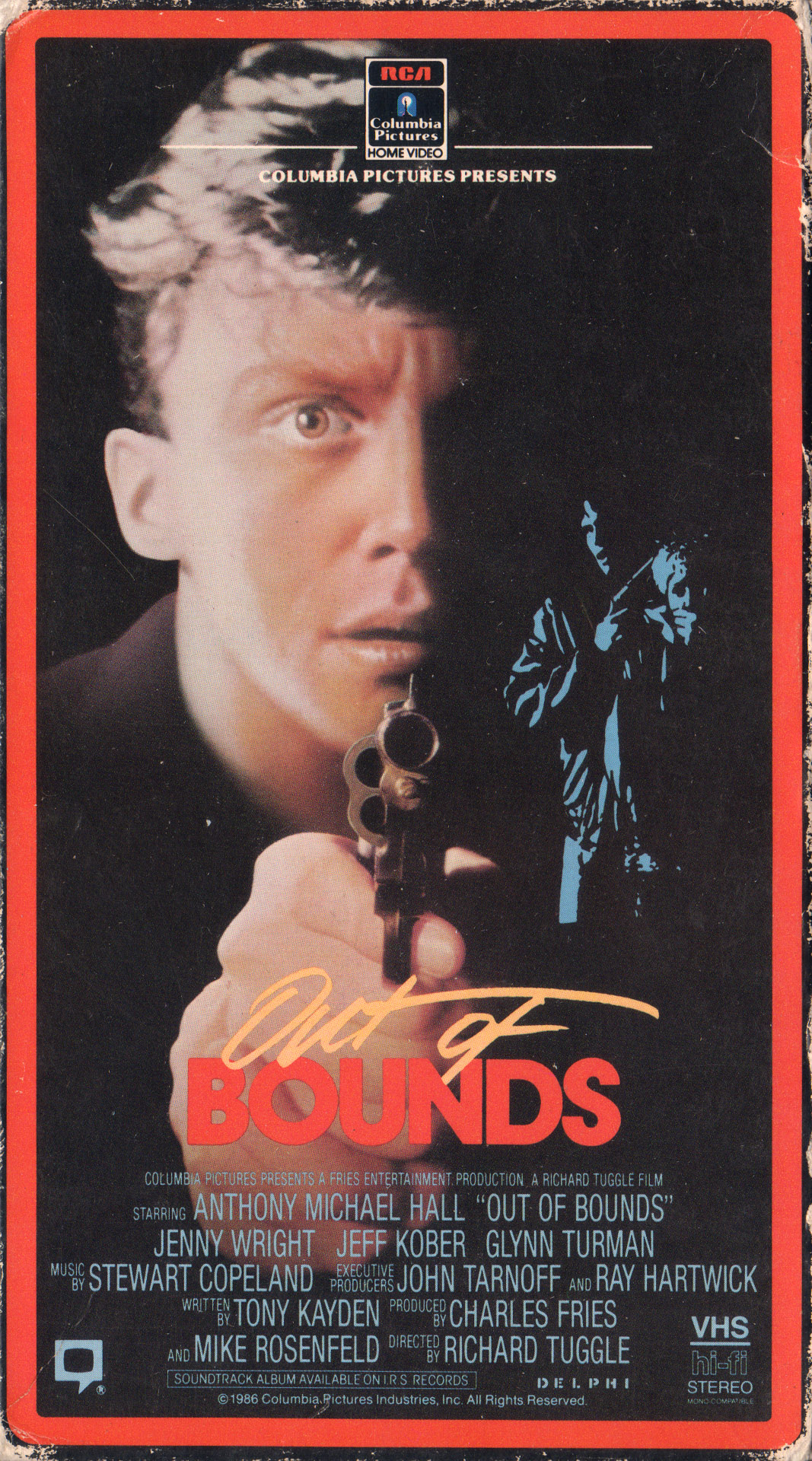 Out of Bounds (1986) Action, Crime, Thriller - R : Farm boy Daryl Cage's parents ship him off to the big city to live with his brother, hoping he will have a better life there. After a baggage mixup at the airport, Daryl finds himself in possession of a drug cache, which a ruthless drug dealer wants back. The dealer murders Daryl's brother and the small town boy ends up all alone in the big city, being pursued by both the drug dealer and the police, who suspect him of the murder.