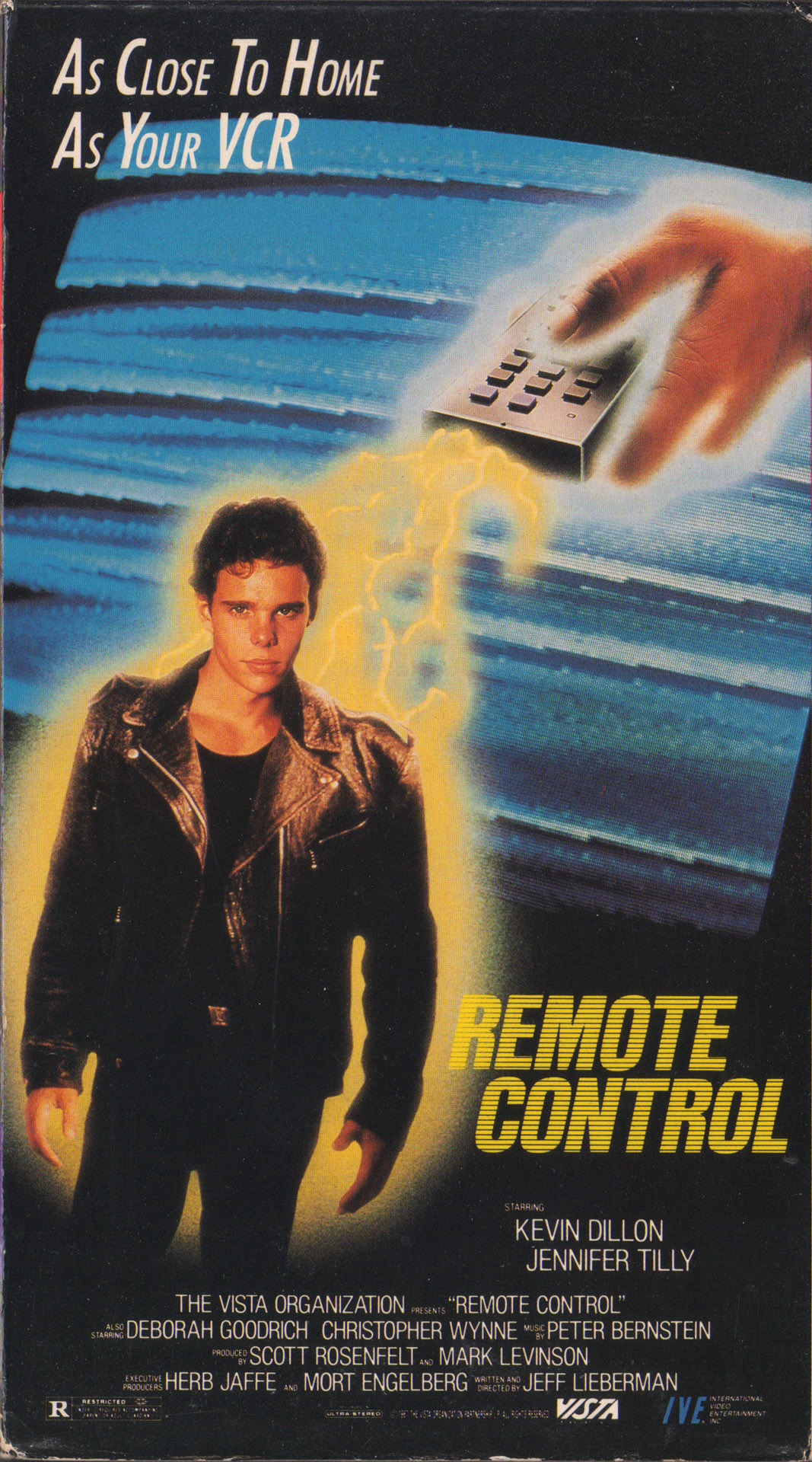Remote Control (1988)  Comedy, Romance, Sci-Fi 04/07/88 - R :  A video store clerk stumbles onto an alien plot to take over earth by brainwashing people with a bad '50s science fiction movie. He and his friends race to stop the aliens before the tapes can be distributed world-wide.