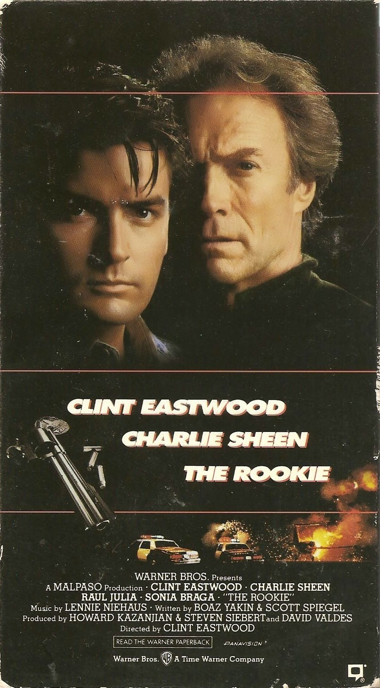 The Rookie (1990) Action, Comedy, Crime - R : Clint Eastwood plays a veteran detective who gets stuck with a rookie cop to chase down a German crook.