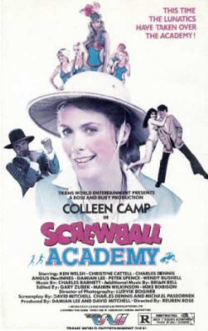 Screwball Academy (1986) Comedy - R : A film crew arrives at a beach resort area to shoot a movie, and encounters trouble with the local teens.