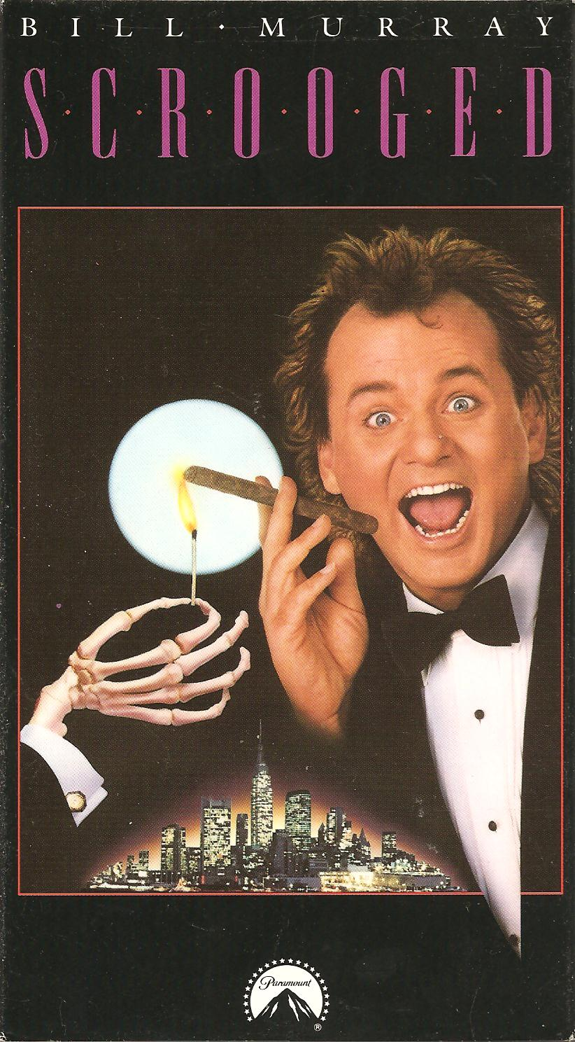 Scrooged (1988)  Comedy, Drama, Fantasy - Rated PG-13 : A selfish, cynical T.V. executive is haunted by three spirits bearing lessons on Christmas Eve.