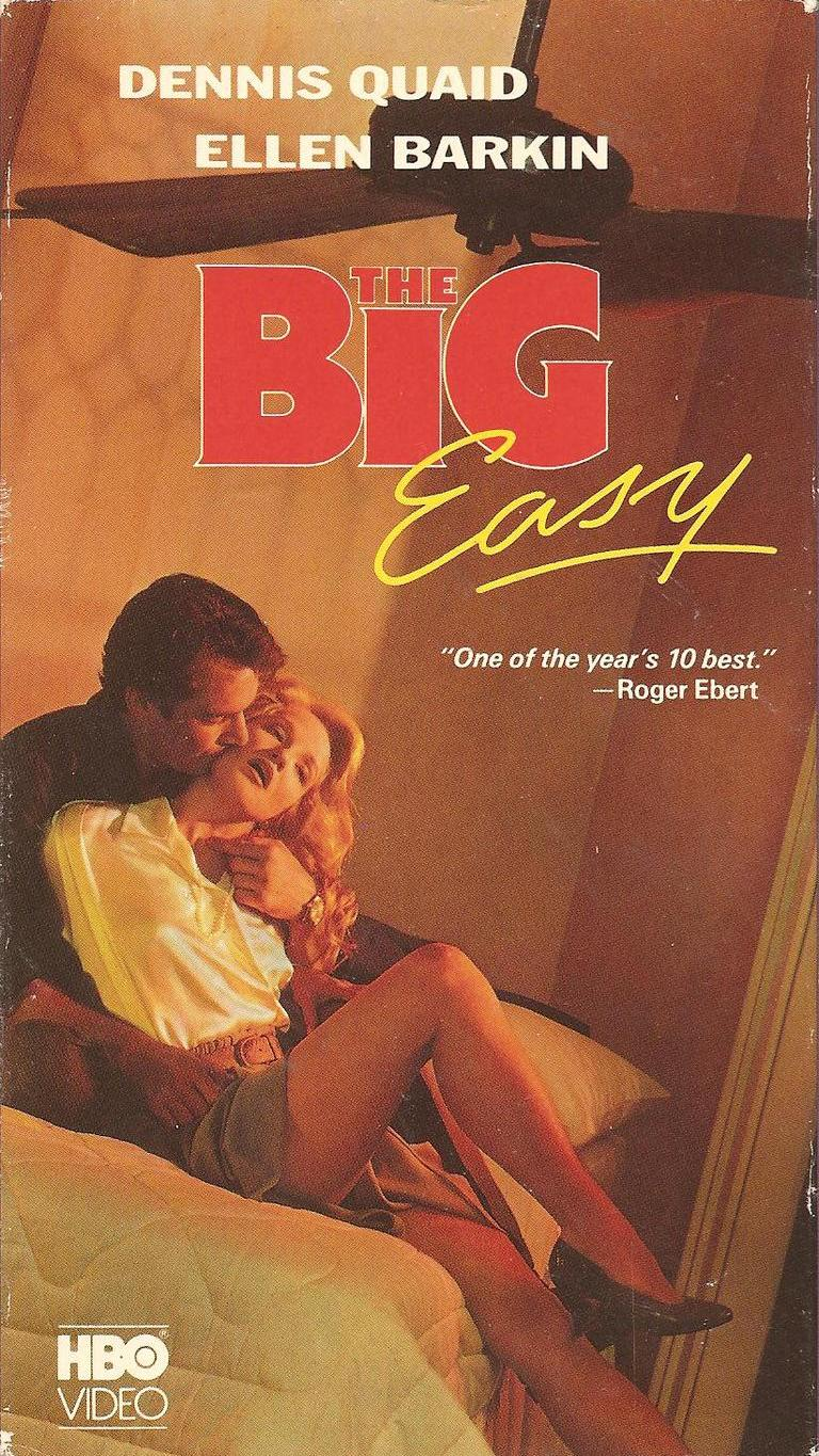 The Big Easy (1986) Crime, Drama, Romance - R : Set in New Orleans. Remy McSwain, lieutenant in Homicide finds that he has two problems, the first of a series of gang killings and Ann Osborne, a beautiful attorney from the D.A.'s police corruption task force in his office. He begins a relationship with her as the killings continue only to have charges filed against him for accepting bribes as he stumbles on a police corruption Sting. While this is happening, the criminals insist that none of the crime gangs are behind the killings.