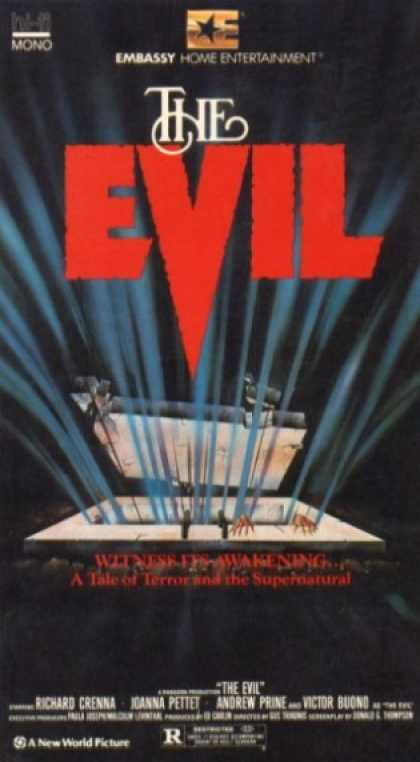 The Evil (1978) Horror , Thriller - R : A chilling tale of suspense and survival. When a doctor rents a haunted house to use as a clinic, he and his associates are victimized by supernatural powers within.