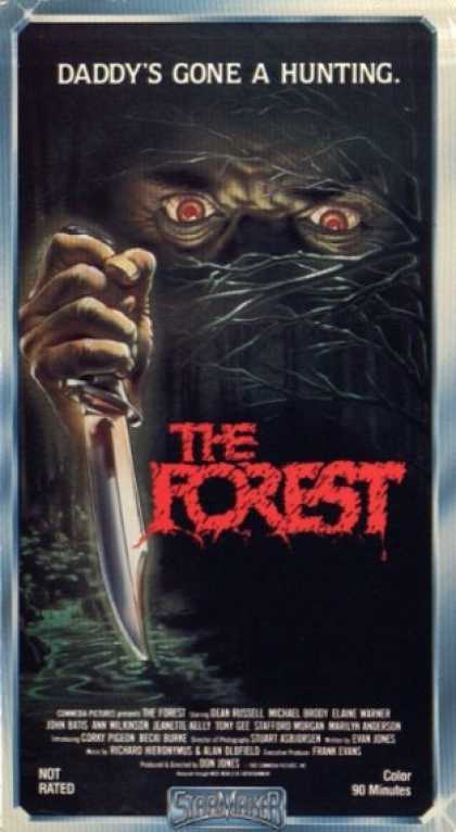 The Forest (1982) A cannibal hermit living in the woods preys on campers and hikers for his food supply.