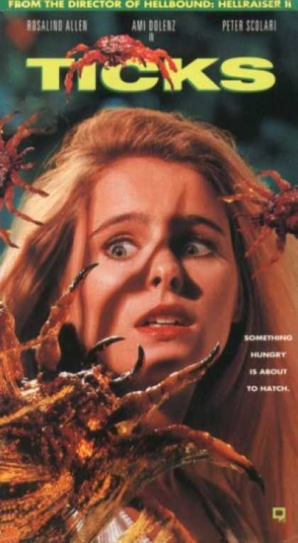 Ticks (1993) Horror , Sci-Fi - R : A group of troubled teenagers are led by social workers on a California wilderness retreat, not knowing that the woods they are camping in have become infested by mutated, blood-sucking ticks.